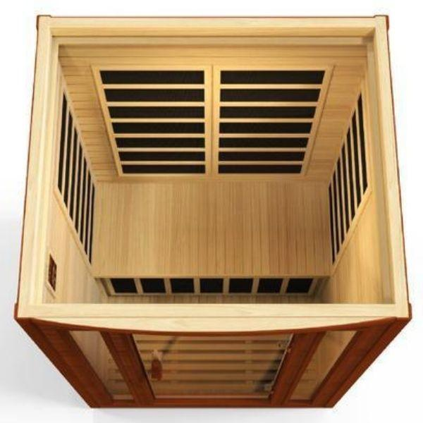 Golden Designs Dynamic San Marino Low EMF FAR Infrared Sauna DYN-6206-01 Front Top View