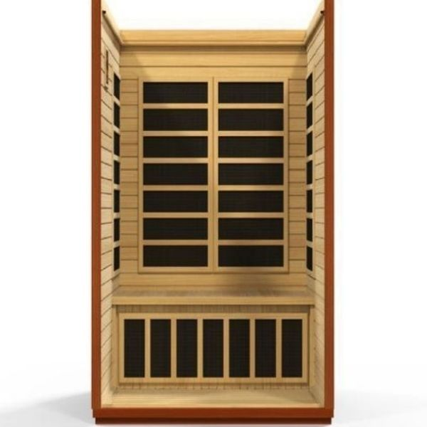 Golden Designs Infrared Saunas Golden Designs Dynamic San Marino Low EMF FAR Infrared Sauna DYN-6206-01
