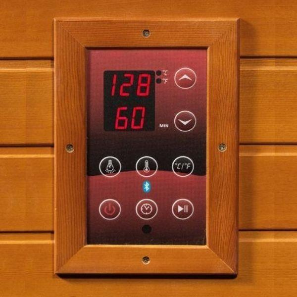 Golden Designs Dynamic Venice Low EMF FAR Infrared Sauna DYN-6210-01 Control Panel View