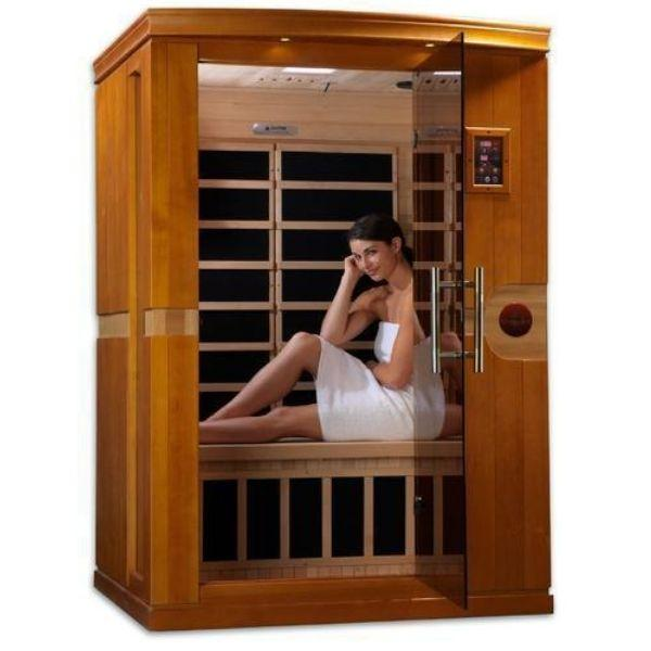 Golden Designs Dynamic Venice Low EMF FAR Infrared Sauna DYN-6210-01 Front View
