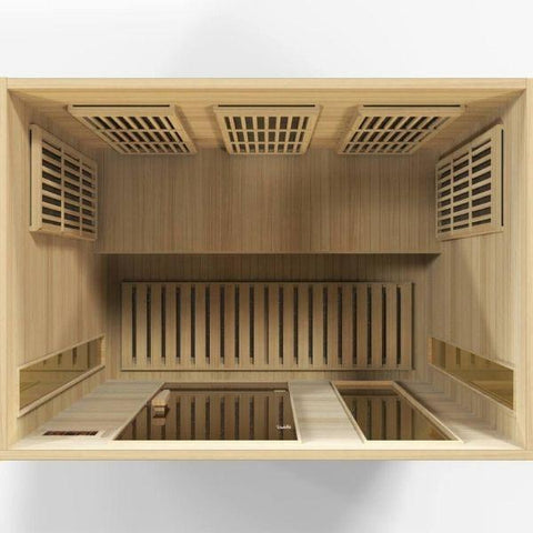 Golden Designs Maxxus Low EMF FAR Infrared Carbon Canadian Hemlock Sauna MX-K306-01 Top View