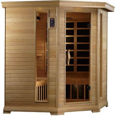 Golden Designs Monte Carlo Corner Near Zero EMF FAR Infrared Sauna Canadian Hemlock GDI-6445-01