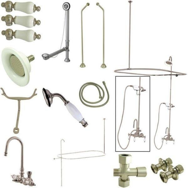 Kingston Brass Vintage Brushed Nickel Package Clawfoot Tub Filler CCK2188PL Package View