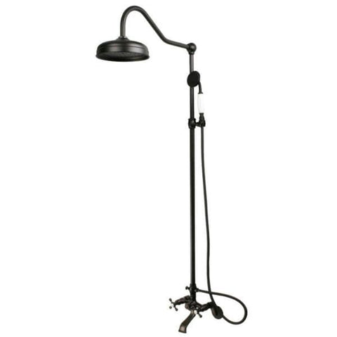 Kingston Brass Vintage Oil Rubbed Bronze Clawfoot Faucet Shower CCK2665 FrontView