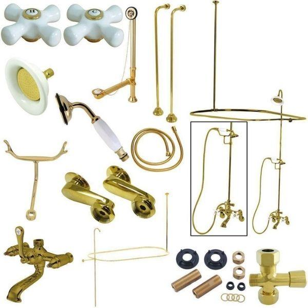 Kingston Brass Vintage Polished Brass Package Clawfoot Tub Filler CCK1142PX Package View