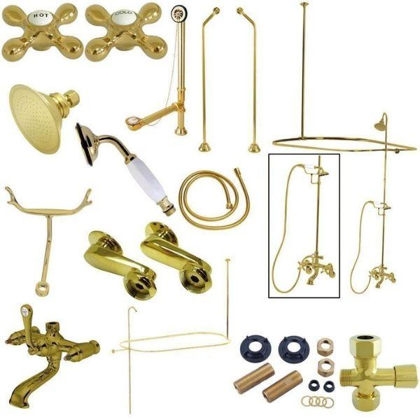 Kingston Brass Vintage Polished Brass Package Clawfoot Tub Filler CCK1182AX Package View