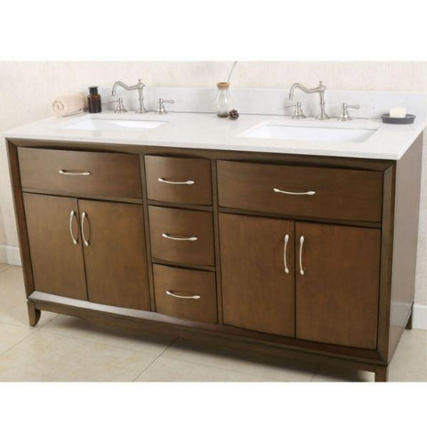 Legion Furniture 36 Antique Coffee Sink Vanity with Quartz Top Front View WLF7030-36