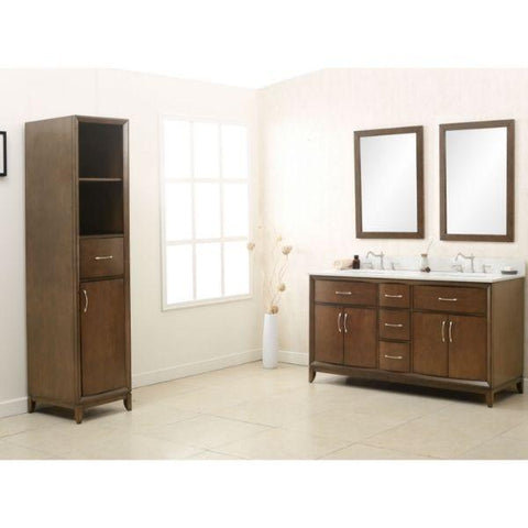 Legion Furniture 36 Antique Coffee Sink Vanity with Quartz Top WLF7030-36 Front Side View