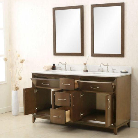 Legion Furniture 36 Antique Coffee Sink Vanity with Quartz Top WLF7030-36 Storage View