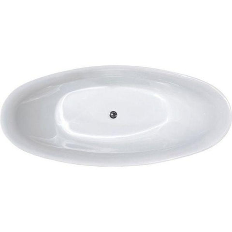 "Legion Furniture Acrylic 67.3"" White Freestanding Bathtub WE6513 Top View"