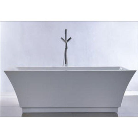 "Legion Furniture Acrylic 67"" White Double Ended Freestanding Bathtub Front View WE6817"