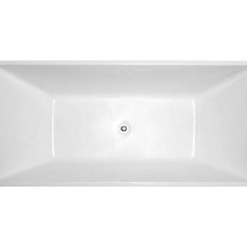 "Legion Furniture Acrylic 67"" White Double Ended Freestanding Bathtub WE6813 Top View"