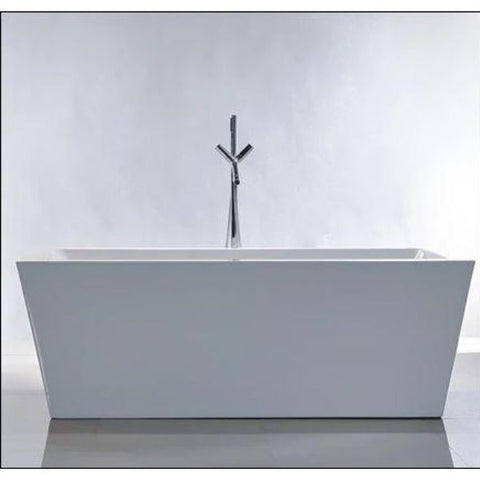 "Legion Furniture Acrylic 67"" White Double Ended Freestanding Bathtub WE6814 Front View"