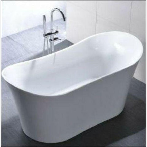 "Legion Furniture Acrylic 67"" White Double Slipper Freestanding Bathtub WE6805 Front Top View"