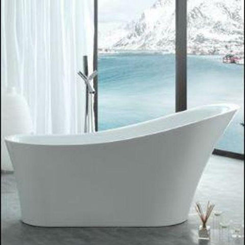 Legion Furniture Acrylic 67 White Freestanding Bathtub WE6843 Front View