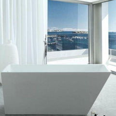 Legion Furniture Acrylic 67 White Freestanding Bathtub WE6844 Front View