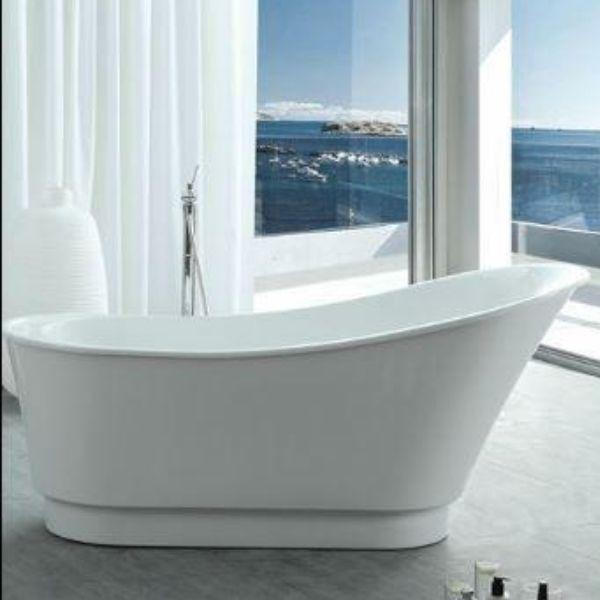"Legion Furniture Bathtubs Legion Furniture Acrylic 67"" White Freestanding Slipper Bathtub WE6803"