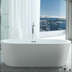 "Legion Furniture Bathtubs Legion Furniture Acrylic 67"" White Freestanding Soaking Bathtub WE6841"