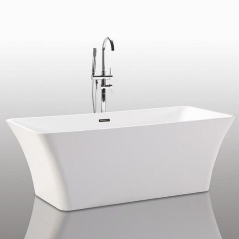 "Legion Furniture Bathtubs Legion Furniture Acrylic 67"" White Rectangular Freestanding Bathtub WE6840"