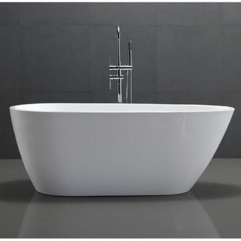 Legion Furniture Acrylic 68 White Egg Shaped Freestanding Bathtub WE6515 Front View