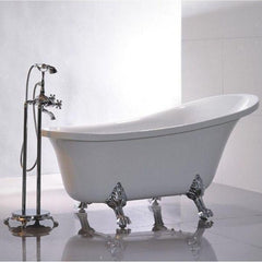 "Legion Furniture Acrylic 69"" White Clawfoot Freestanding Bathtub WE6310 Front View"