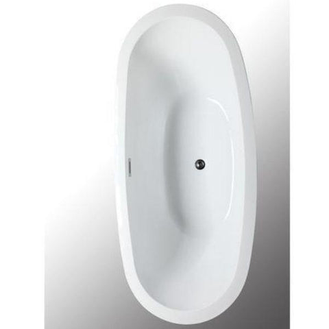 "Legion Furniture Acrylic 69"" White Double Slipper Freestanding Bathtub WE6845 Top View"