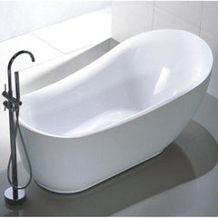 "Legion Furniture Acrylic 71"" White Freestanding Bathtub WE6512 Front Top View"
