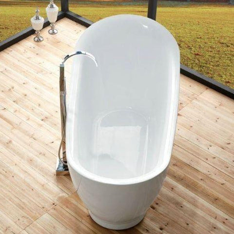 "Legion Furniture Acrylic 71"" White Freestanding Bathtub WE6512 Top View"