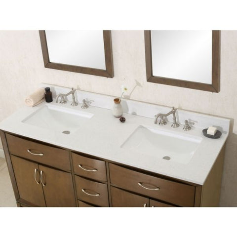 Legion Furniture Antique Coffee Sink Vanity with Quartz Top No Faucet WLF7030 Sink View