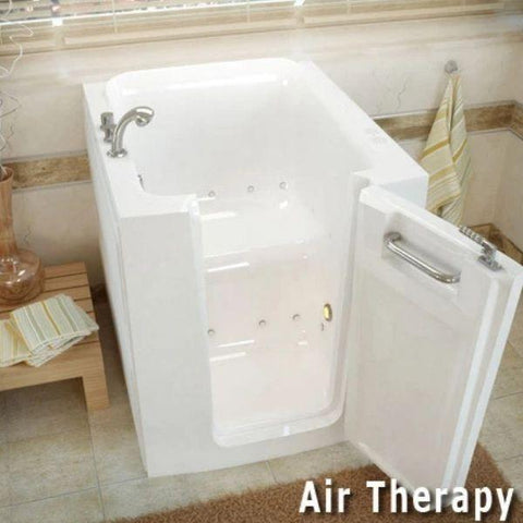Meditub Walk-In Bathtubs Air Jetted White Bathtub 3238LWA Air Therapy View