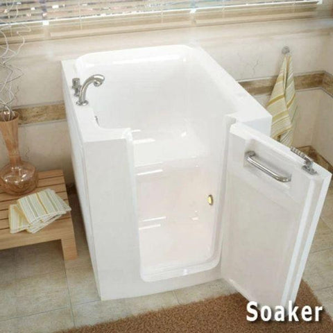 Meditub Walk-In Bathtubs Air Jetted White Bathtub 3238LWA Right Opening Soaker View