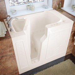 Meditub Walk-In Left Drain Air Jetted Biscuit Bathtub 2646 LBA Front View