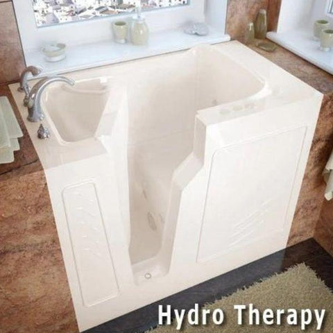 Meditub Walk-In Left Drain Air Jetted Biscuit Bathtub 2646 LBA Hydro Therapy View