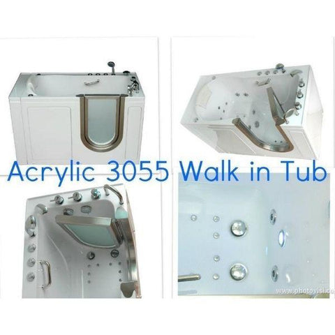Mobility Bathworks Bathtubs Soaker Mobility Bathworks Acrylic Walk-in Bathtub 3055 Features View