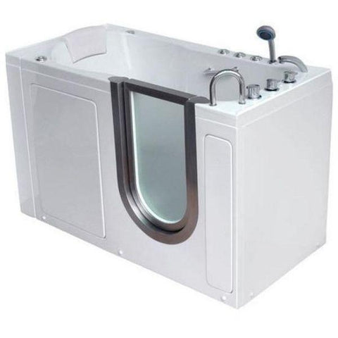 Mobility Bathworks Bathtubs Soaker Mobility Bathworks Acrylic Walk-in Bathtub 3055 Side Front View