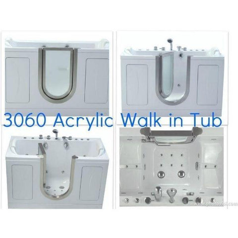 Mobility Bathworks Bathtubs Soaker Mobility Bathworks Acrylic Walk-in Bathtub 3060 Features View