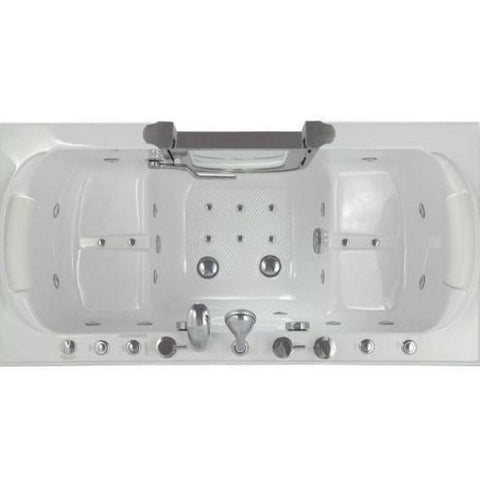 Mobility Bathworks Bathtubs Soaker Mobility Bathworks Acrylic Walk-in Bathtub 3060 Top View