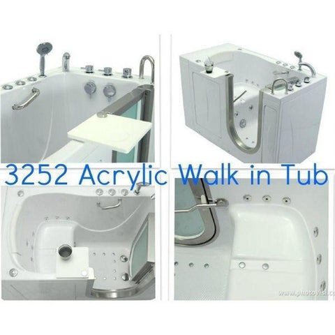 Mobility Bathworks Bathtubs Soaker Mobility Bathworks Acrylic Walk-in Bathtub 3252 Features View