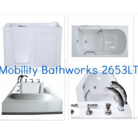 Mobility Bathworks Bathtubs Mobility Bathworks Elite Low Threshold Walk-in Bathtub 2653