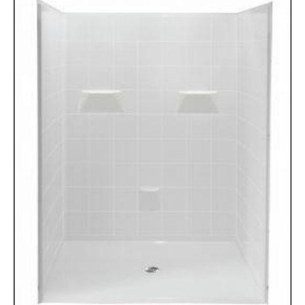 Mobility Bathworks Showers Mobility Bathworks Barrier Free Walk-in Shower 4836 Front View