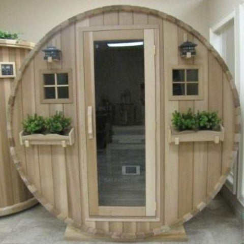 Sauna Core Infrared Sauna sSaunacore Country Living Barrel Infrared Sauna Front Glass Door View