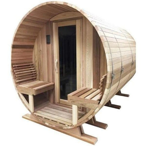 Sauna Core Infrared Sauna sSaunacore Country Living Barrel Infrared Sauna Front View