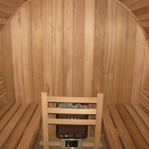 SaunaCore Infrared Saunas Saunacore Country Living Barrel Infrared Sauna Inside View