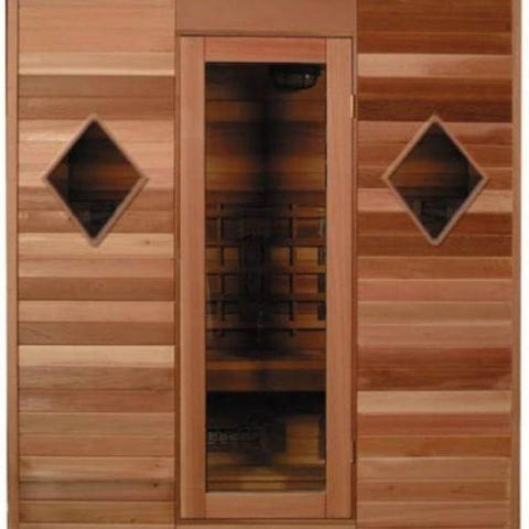 SaunaCore Infrared Saunas Saunacore Infra-Core Premium Dual Series Conventional Sauna Diamond Window View