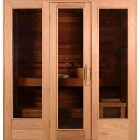 SaunaCore Infrared Saunas Saunacore Infra-Core Premium Dual Series Conventional Sauna Window and Door View