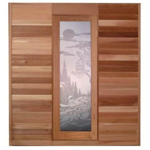 SaunaCore Infrared Saunas Traditional Modular Style Sauna by Saunacore Front Door View