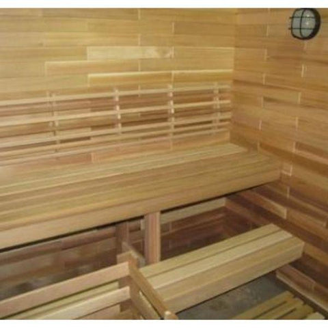 SaunaCore Infrared Saunas Traditional Modular Style Sauna by Saunacore Inside  Bench View