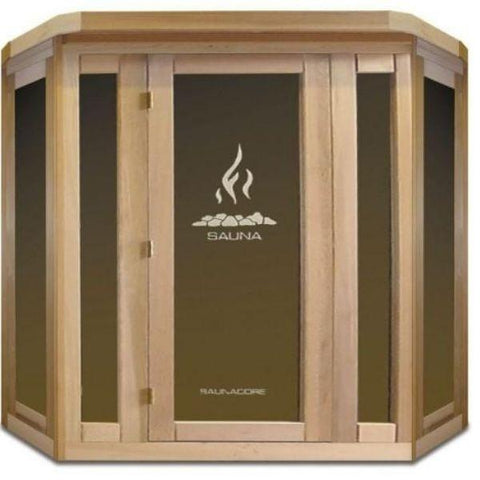 SaunaCore Infrared Saunas Traditional VU Classic Sauna by Saunacore Front View