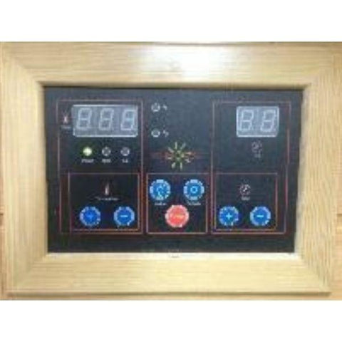 Saunas SunRay Cayenne Outdoor Infrared Sauna HL400D Control Pad View