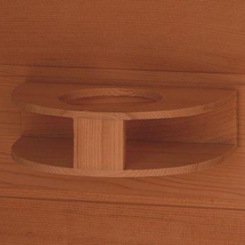 Saunas SunRay Cayenne Outdoor Infrared Sauna HL400D Cup Holder View
